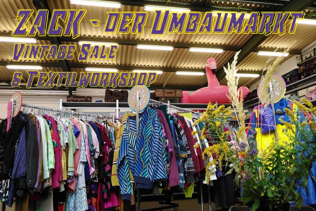 Zack | Vintage Sale & Textilworkshops mit der Stadtmission