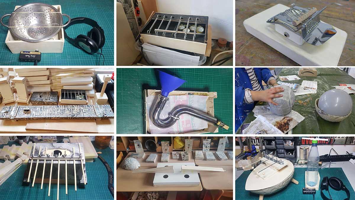 DIY-Musikinstrumente und Kunstprojekt
