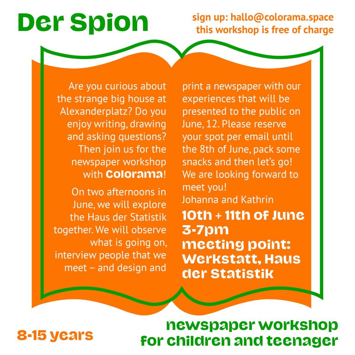Der Spion – Kinderzeitungsworkshop