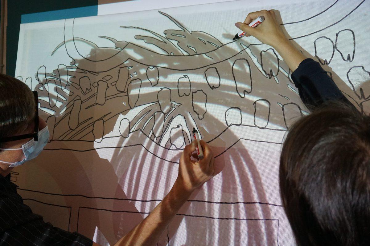 Mit-Zeichnen zum Thema Gemeinsamer Raum