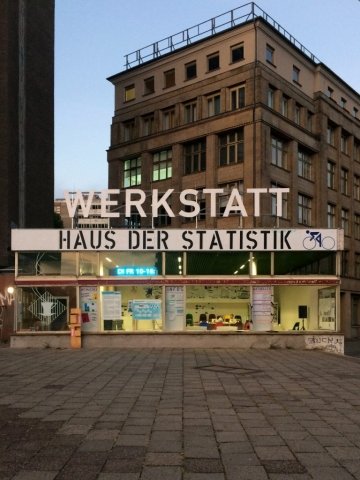 Pavillon Werkstatt Haus der Statistik