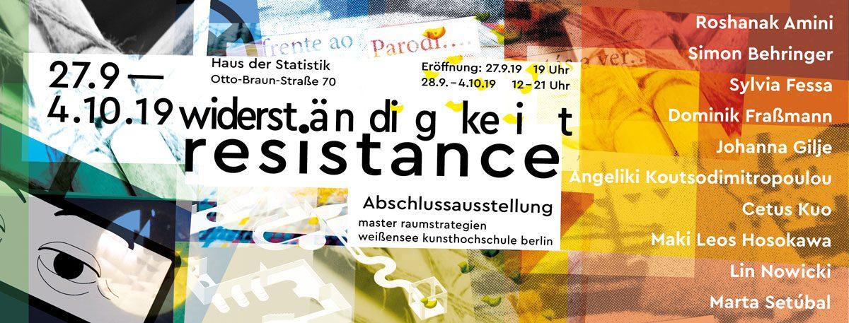 Widerständigkeit – Resistance