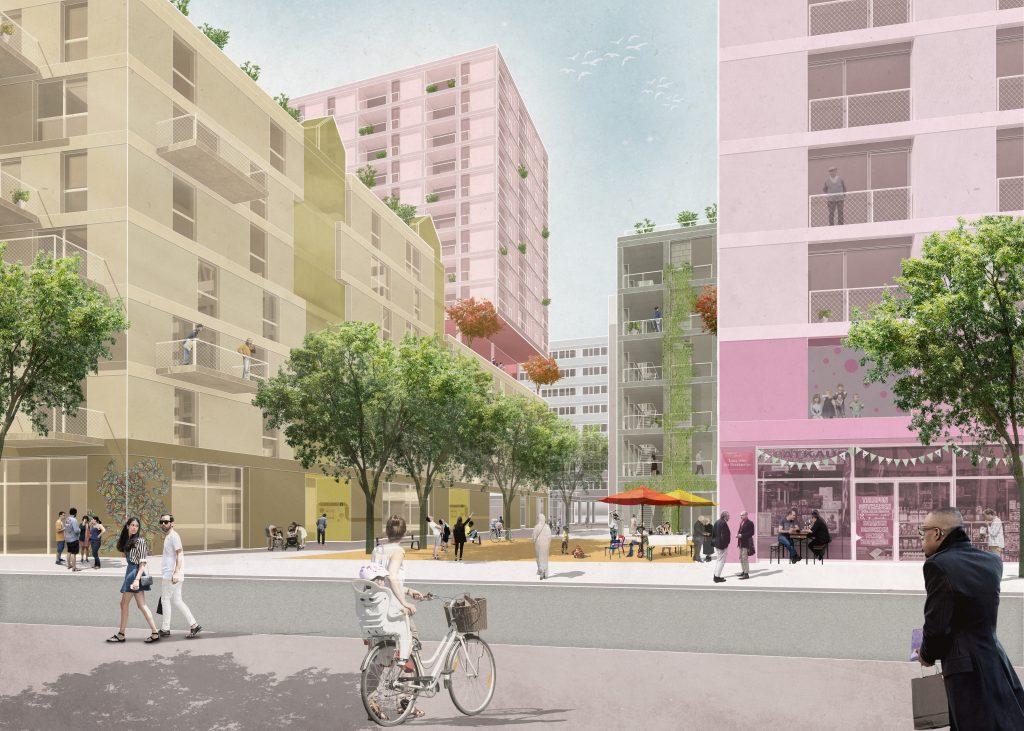 Die Kieznischen an der Berolinastraße verknüpfen den neuen Stadtbaustein mit der bestehenden Nachbarschaft.