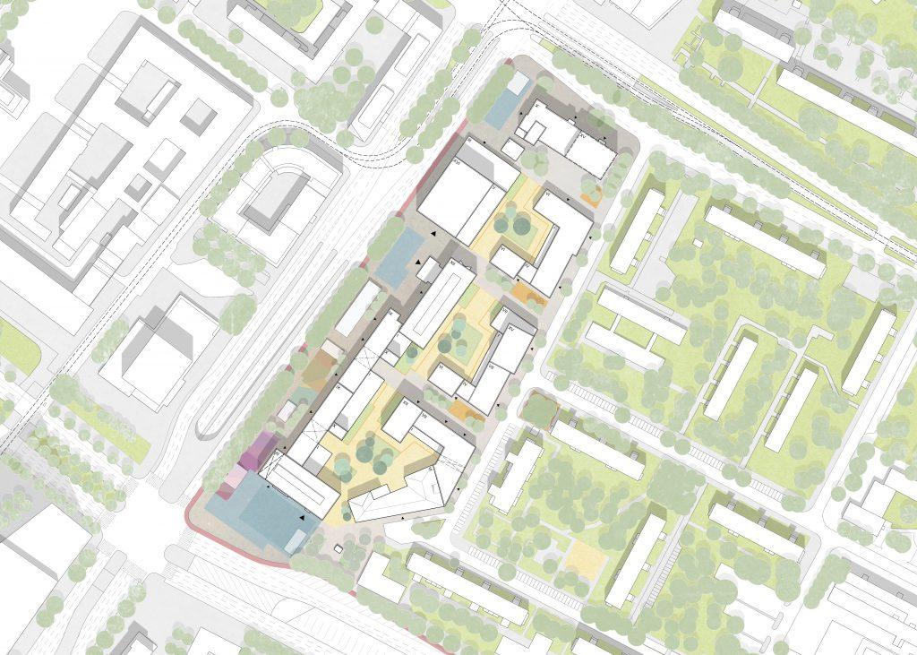 Plan städtebaulicher Entwurf
