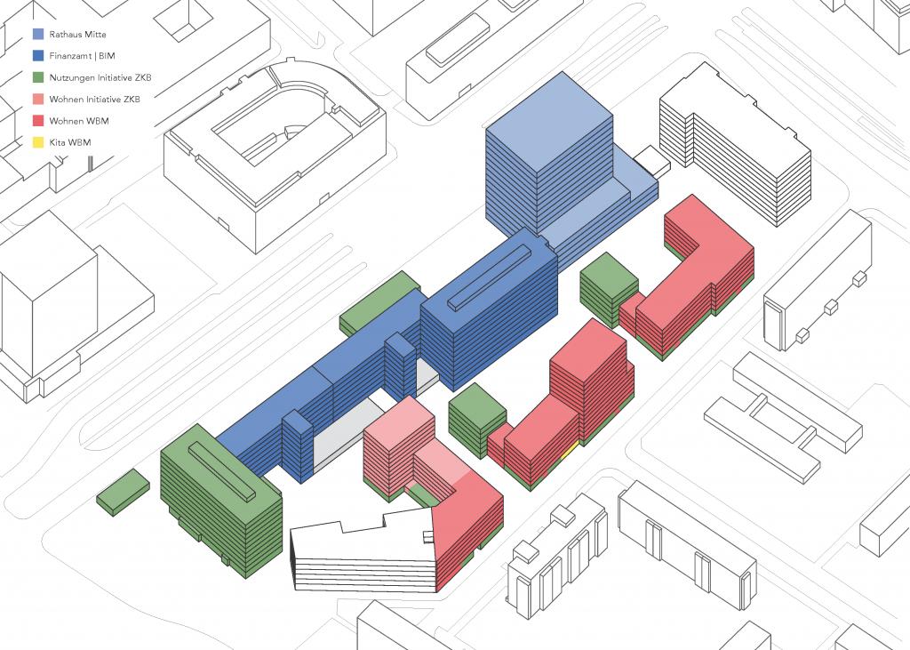 Die geplante Nutzungsverteilung im Quartier Haus der Statistik