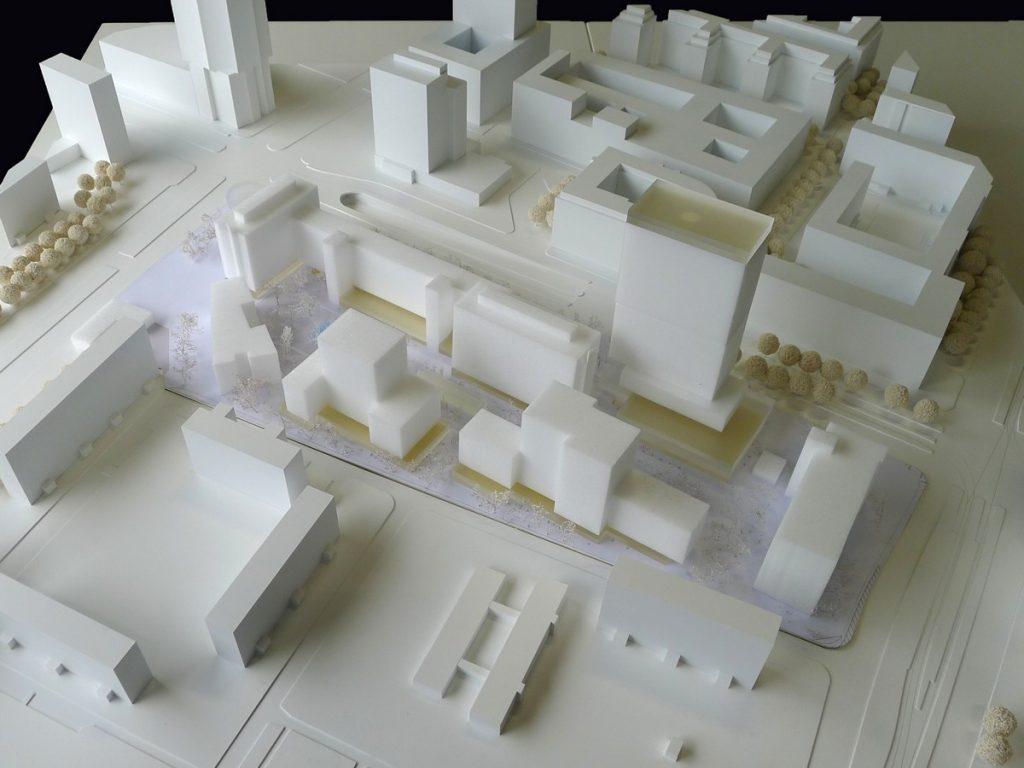 Modellfoto städtebaulicher Entwurf COBE Berlin + Studio Sörensen
