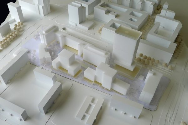 Blick Ost-West: Entwurf 1, COBE Berlin + Studio Sörensen (Foto: Clemens Weise, ©ZKB eG)