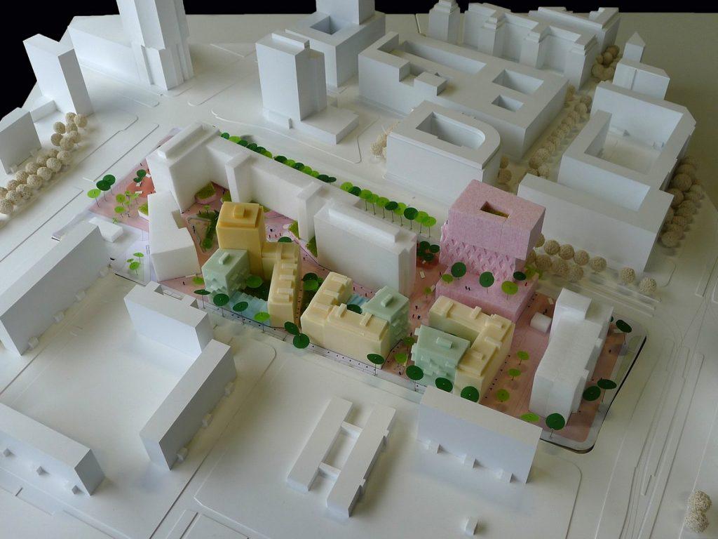 Modellfoto städtebaulicher Entwurf ISSS+Octagon+manmadeland