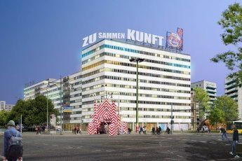 Kern des Konzepts: Erhalt und neue Nutzungen (Kunst, Kultur, Soziales) im Bestandsgebäude.