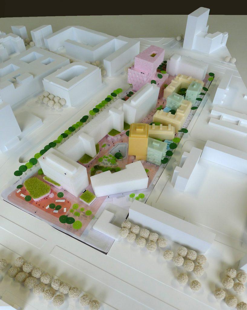 Modellfoto städtebaulicher Entwurf ISSS+Octagon+manmadeland (Foto: Clemens Weise, ©ZKB eG)