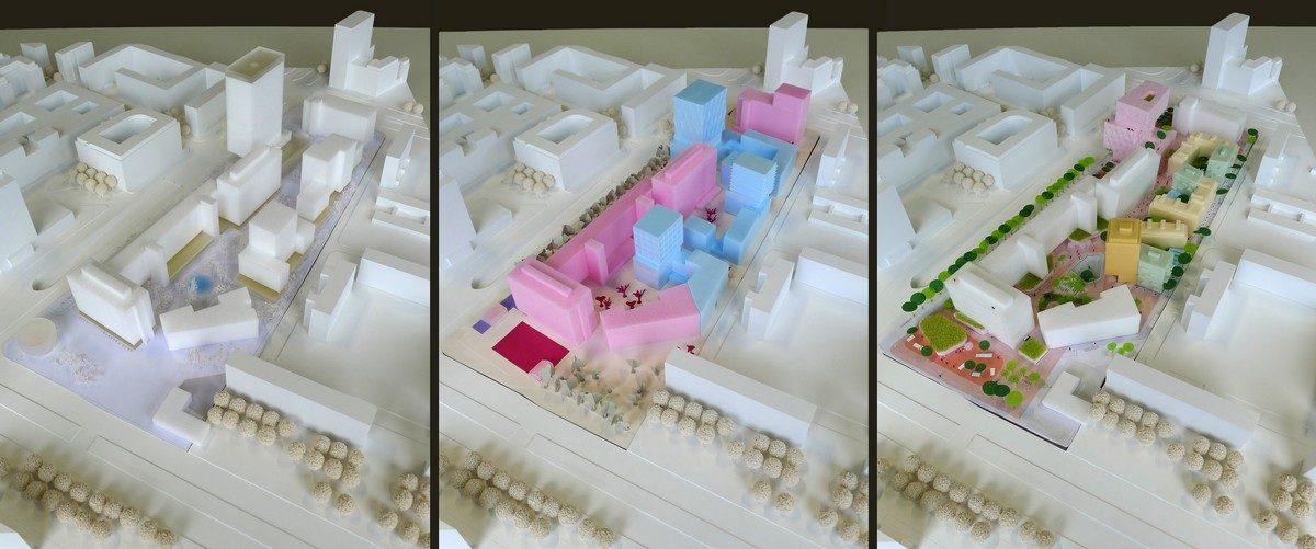Modellfotos der Entwürfe